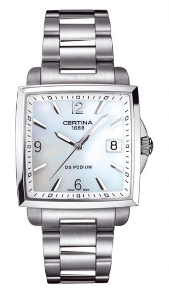 Hodinky Certina – Certina Lady Quartz – DS PODIUM LADY SQUARE C001.310.11.117.00