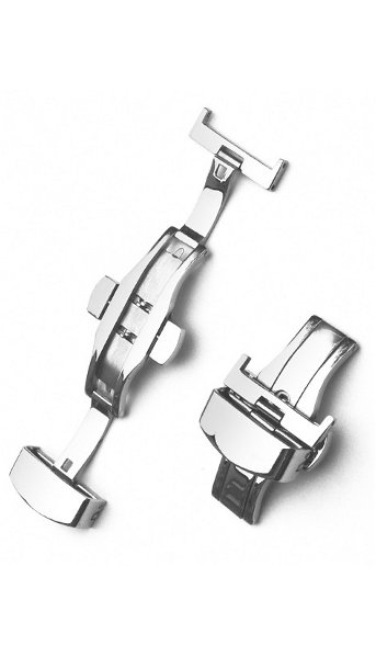 Hodinky Pásky na hodinky–Překlápěcí spony– Motýlová spona s pojistkou
